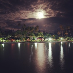 maratua resort at night