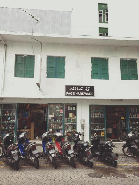 salah satu sudut kota maldives